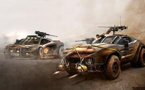 Картинка McLaren, Авто, Апокалипсис, Машины, Две, Оружие, McLaren MP4, Броня, Арт, Боевые, Yasid Design, Yasid Oozeear, …