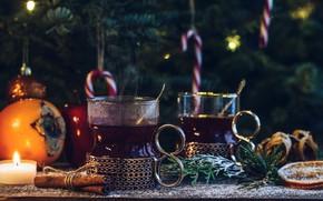Картинка чай, цитрус, напиток, карамель