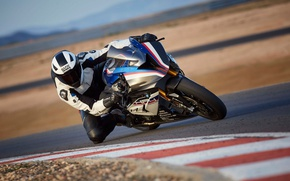Картинка BMW, race, man, speed, pilot, helmet, motorbike, montain, BMW H4 Race