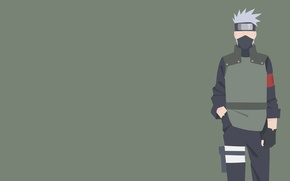 Обои Naruto, man, sharingan, ninja, shinobi, Hatake Kakashi, Naruto Shippuden, doujutsu, powerful, hitaiate, strong, Konoha, by ...