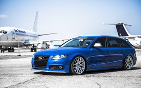 Картинка car, tuning, airplanes, stance, audi a4, avant