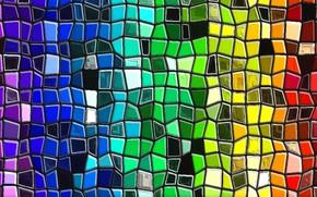 Картинка абстракция, рисунок, спектр, текстура, картон, цвета радуги, акриловые краски