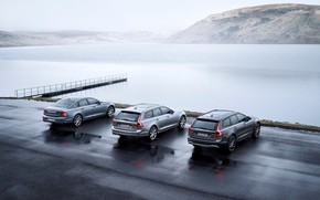 Обои Car, Volvo, Седан, Универсал, 2017, Silver, S90, V90, Cross Country