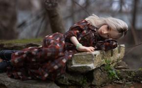Картинка грусть, девушка, настроение, кукла