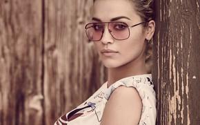 Обои очки, Rita Ora, певица, портрет, взгляд