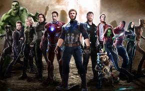 Обои Film, Т'Чалла, Captain America, Капитан Америка, Кино, Zoe Saldana, Hulk, Скарлетт Йоханссон, Clint Barton, Mark ...
