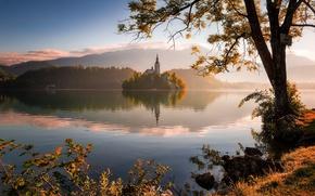 Картинка morning, Lake Bled, Slovenia