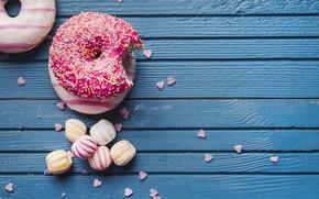 Картинка конфеты, выпечка, Пончики