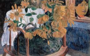 Картинка картина, Подсолнухи, Поль Гоген