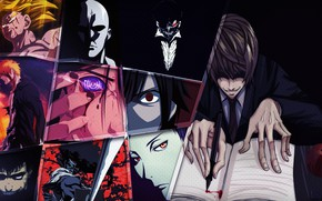 Картинка apple, Afro Samurai, Bleach, Death Note, Naruto, anime, crossover, Berserk, samurai, ninja, assassin, manga, shinobi, …