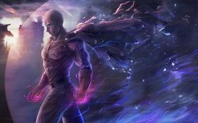 Картинка city, fire, flame, game, anime, power, man, face, punch, hero, asian, hand, flash, fist, manga, …