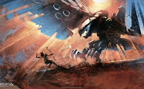 Картинка лучница, art, Limited Edition, PlayStation 4, Horizon: Zero Dawn, Artbook