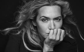 Картинка актриса, черно-белое, фотосессия, Pirelli, Kate Winslet, Кейт Уинслет, Peter Lindbergh