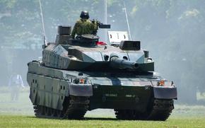 Картинка Japan, soldier, weapon, asian, tank, oriental, asiatic, Japanese, Type 10, Mitsubishi Heavy Industries, Nippon, Nihon