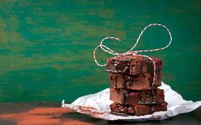 Картинка вишня, шоколад, пирожное, cake, sweet, бисквит, шоколадная глазурь
