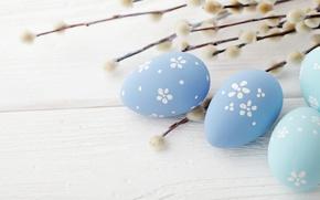 Картинка Пасха, wood, верба, spring, Easter, eggs, decoration, Happy, яйца крашеные
