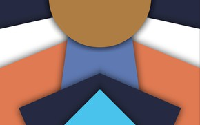 Картинка треугольники, круг, слои