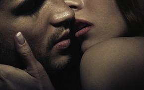 Картинка woman, kiss, men, lips