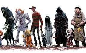 Картинка cinema, Halloween, Friday the 13th, Jason Voorhees, movie, assassin, Scream, film, Freddy Krueger, Samara, A …