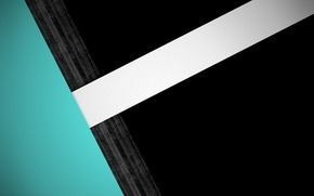Картинка белый, голубой, черный, wallpaper, design, modern, линии background, material, full HD