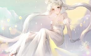 Картинка аниме, арт, невеста, Сейлор Мун, кодомо, 魔法少女, Махо-сёдзё, 美少女戦士セーラームーン, Наоко Такэути