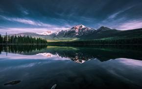 Картинка Lake, Patricia, Serene, Pyrami, Lake Morning, Stillness