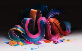 Картинка краски, изгиб, объем