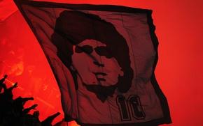 Картинка красный, флаг, легенда, знамя, maradona, napoli-fans