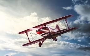 Обои OH-XPF, полёт, Pitts Special, самолёт, небо