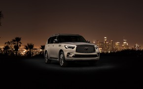 Обои Лос-Анджелес, 2018, Infiniti, QX80, Los Angeles