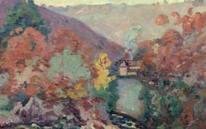 Картинка природа, картина, Арман Гийомен, Armand Guillaumin, Пейзаж Крёза. Страсть