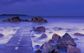 Обои Purple, Forty, Foot, Hour, Blue, Sea