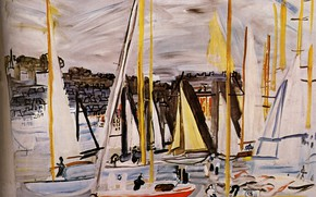 Картинка 1935, Huile sur Toile, Raoul Dufy, The Basin of Deauville, Le Bassin de Deauville, Collection …