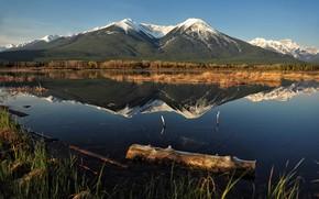 Картинка горы, озеро, Vermilion Lakes, Jeff Clow