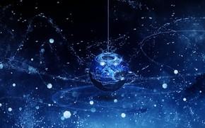 Картинка вода, рыбы, капля, фэнтези, Y_Y