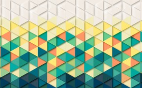 Обои background, треугольники, геометрия, абстракция, фон, Обои