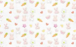 Обои бабочки, фон, обои, текстура, морковка, кролик, зайцы, детская