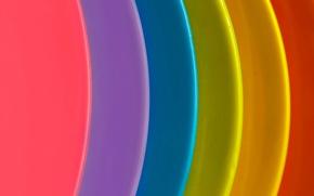 Обои слой, дуга, краски, радуга, объем