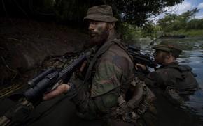 Картинка армия, солдаты, водоем