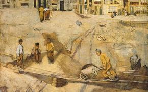Обои масло, картина, Песчаный Карьер в Амстердаме, Ричард Роланд Холст