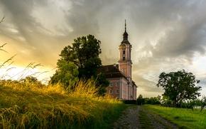 Картинка Германия, церковь, Germany, Baden-Wurttemberg, Birnau, Maurach