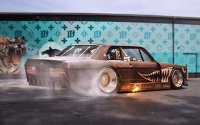 Картинка Burnout, BMW, Car, BBS, Wheels, Rear