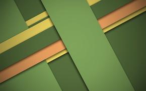 Картинка линии, желтый, зеленый, wallpaper, геометрия, design, modern, color, material, персиковый, full HD