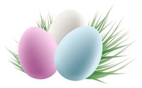 Картинка трава, яйца, пасха, крашенки