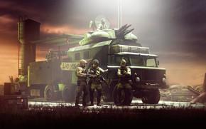Картинка транспорт, башня, военные, randusfr, The mobile squad
