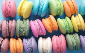 Картинка colorful, десерт, pink, пирожные, сладкое, sweet, dessert, macaroon, french, macaron, макаруны