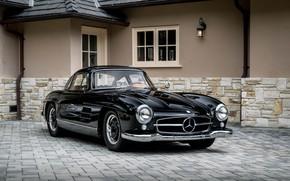 Картинка Black, Mercedes, 300SL