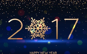 Картинка Новый Год, new year, happy, blue, decoration, 2017, holiday celebration