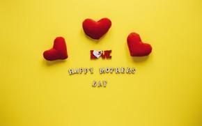Картинка буквы, сердечки, Праздник, 8 марта