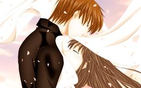 Картинка девушка, романтика, аниме, арт, парень